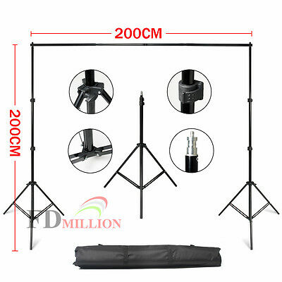 2x2m Studio Adjustable Background Support Stand Photography Backdrop Tripod Kit
