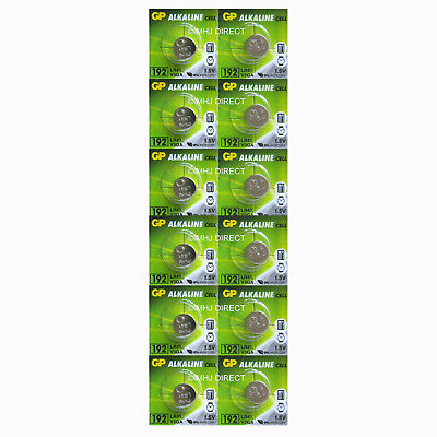 12 x GP LR41 192 AG3 392 SR41 1.5v Alkaline Batteries Use By Expiry Date 2020