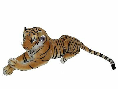 "Medium Large Brown Tiger Soft Toy 100cm 40""  Realistic Features"