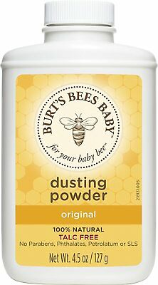 BURT'S BEES Baby Bee Dusting Powder Talc Free Herbs & Flowers Scent 4.5 oz. 127g