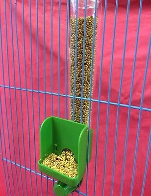 Bird Feeder Seed Clipper Fountain TALL External Budgie Canary Finch Parakeet