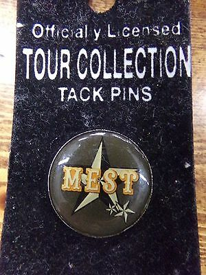 Officially Licensed Tour Collection Tack Pin ~ MEST ~ Hat Pin on Card hatpin