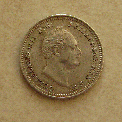 Silver Groat 1836 Coin King William Iiii Extremely Fine Grade