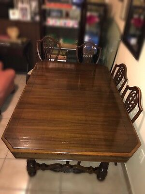 VINTAGE Berkey & Gay Renaissance 1925 Dining Set, Table & 6 Chairs