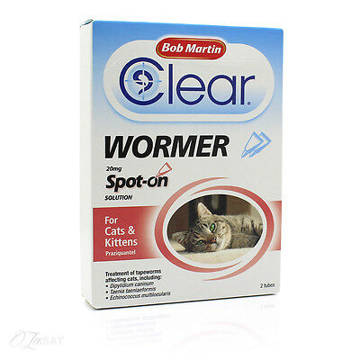 Bob Martin Clear Wormer Spot On For Cats And Kittens