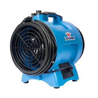 XPOWER X-12 1/2 HP Variable Speed Confined Space Fan Ducting Axial Ventilator