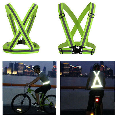 Reflective Safety Vest Lightweight and Adjustable for Cycling Motorcycle Running