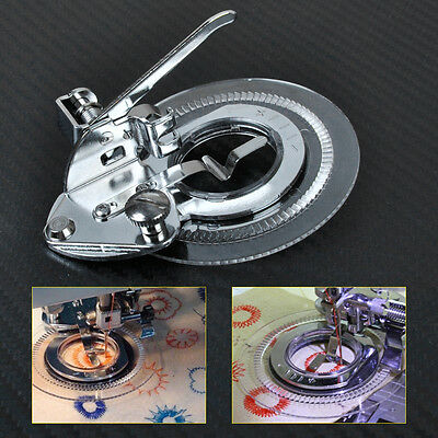 Flower Stitch Presser Foot Circle for Low Shank Sewing Janome Brother Singer