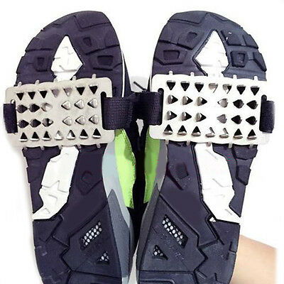 Anti Slip 26 Spikes Grips Crampon Cleats  Shoes Cover Outdoor Snow Ice Climbing