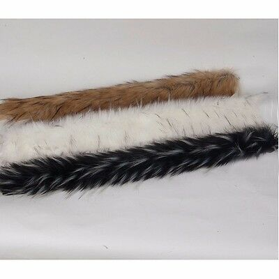 Faux Clothes Raccoon Fur Trim Trimming Coat Jacket Hood Strap Collar Hand Sewing