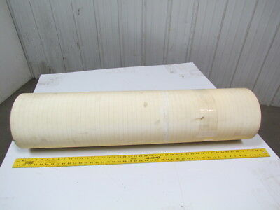 "2 ply smooth top clear/white urethane rubber conveyor belt 32ftx43"" 5/32"" thick"
