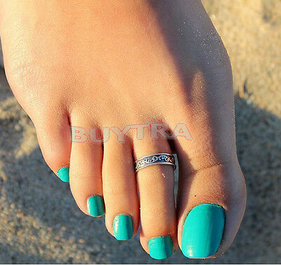 Hot Silver Toe Ring Metal Material Sterling Silver Jewelry Hawaiian Beach EV