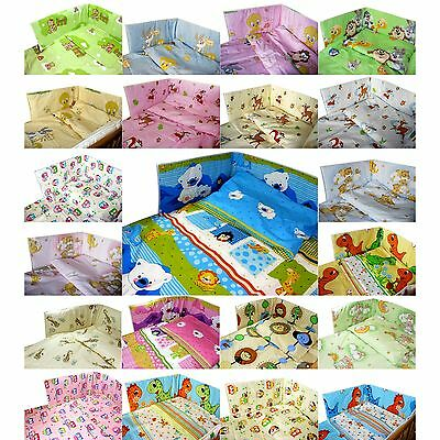 DISNEY 2/3pc ANTI-ALLERGY Baby Bedding Set 120x90 135x100 Bumper Cot Bed Cover