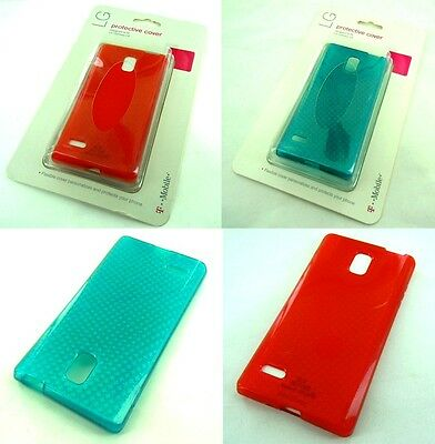 Lot OEM T-Mobile Protective Cover Silicone Gel Shell Case For LG Optimus L9