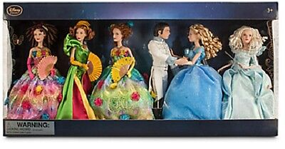 DISNEY STORE SET 6 BAMBOLE BARBIE CENERENTOLA Cinderella Doll Set - Live Action