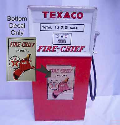 Vintage TOY TEXACO WOLVERING Pedal Car Fire Chief LOWER Gas Pump DECAL