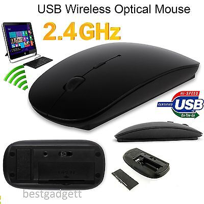 USB OPTICAL WIRELESS CORDLESS 2.4 GHz SCROLL MOUSE FOR ALL WINDOWS MAC PC LAPTOP