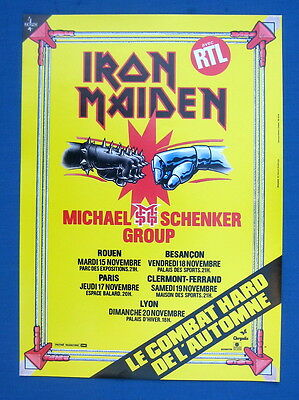 Iron Maiden France french poster nov 1983 MINT