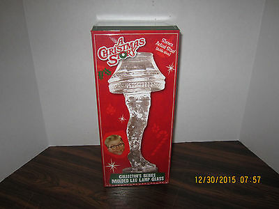 "A CHRISTMAS STORY ""MOLDED LEG LAMP GLASS"" 18 oz Collector Glass NEW in BOX"