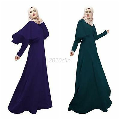 Abaya Islamic Jilbab Arab Clothes Muslim Long Sleeve Maxi Dress Cloak Kaftan