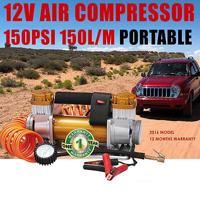 12V Air Compressor Tyre 4WD 4x4 Car Truck High Output Portable