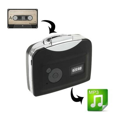 HI-TECH Black Ezcap 230 Cassette Tape to MP3 Converter Capture Audio Music Play
