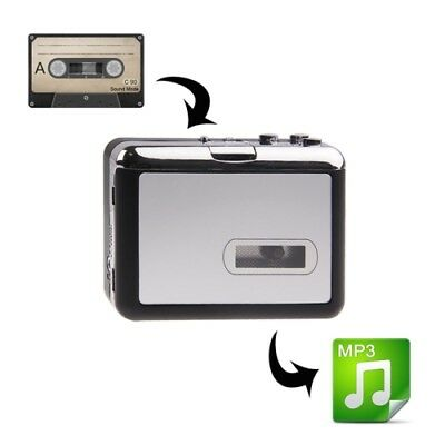 TECH Black + Silver Plug and Play TF Card/Micro SD Cassette Tape to MP3 Convert