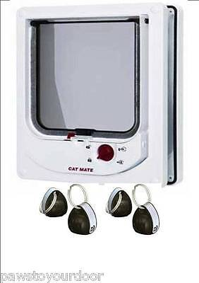 Pet Mate 254w Cat Mate Electromagnetic Pet Cat Door 4 Way Locking with 4 magnets
