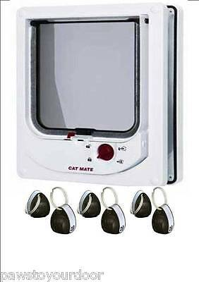 Pet Mate 254w Cat Mate Electromagnetic Pet Cat Door 4 Way Locking with 6 magnets • EUR 50,72