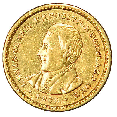 1905 $1 Lewis & Clark Gold Commemorative Priced For Fast Sale!