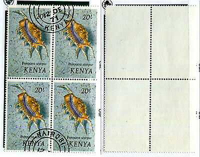 Used Kenya Block of 4 #50 (Lot #10295)