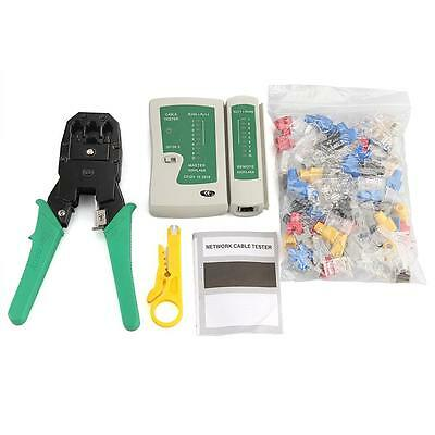 RJ45 CAT5e Network Telephone Cable Tester Crimper Connector Plug Tools Set Hot