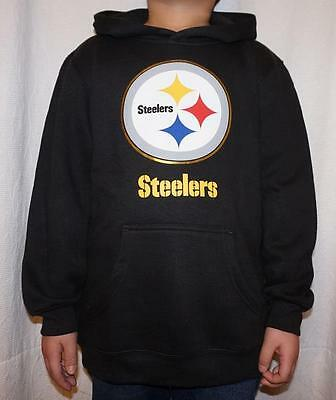 NWT Pittsburgh Steelers NFL Youth Primary Logo Fleece Hoodie Sweatshirt