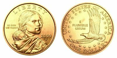 """2000 D Sacagawea Dollar US Mint Coin in """"Brilliant Uncirculated"""" Condition"""