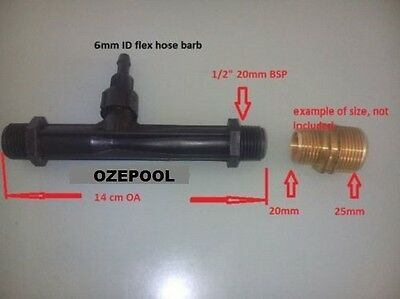 "Ozone/Chemical injector, commercial Mazzei style/Venturi, 1/2""-20 mm BSP ends"