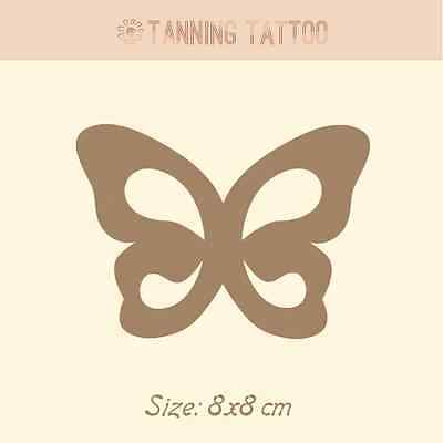 7 Butterfly Body Tanning Stickers