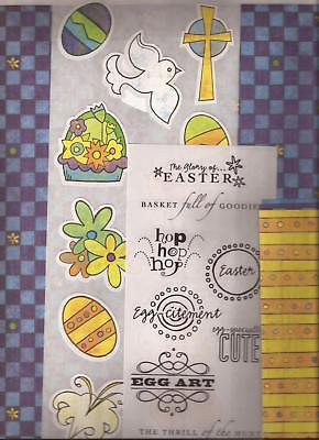 CREATIVE MEMORIES Primary EASTER Additions Scrapbooking Kit Stickers Paper Mats