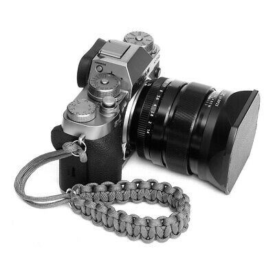 Grey Paracord Wrist Strap for DSLR Compact Cameras Fuji Canon Nikon Sony pentax