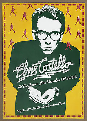 Elvis Costello My Aim Is True Guaranteed Original 1977 Bottom Line Promo Poster