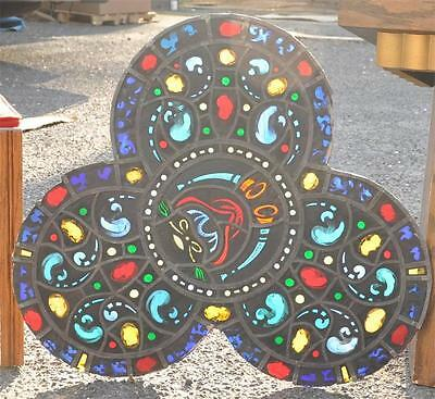 Beautiful Antique Stained Glass Church Gothic Religious Windows - 14Jrpa12