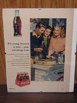 Coca-Cola Advertisement From Oct.1953 Woman's Day Magazine