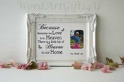 Personalised In Loving Memory PHOTO Print