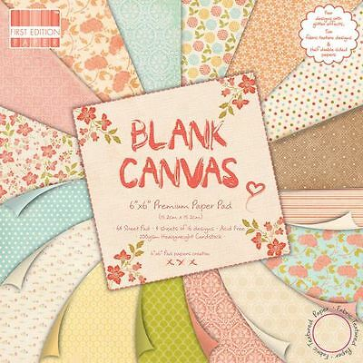 "SALE Premium Craft Cardstock First Edition Blank Canvas 6 x 6"" Scrapbook Papers"