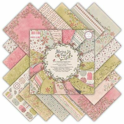 "Premium Craft Cardstock First Edition 6 x 6"" Scrapbook Paper Pad Spring Feast"