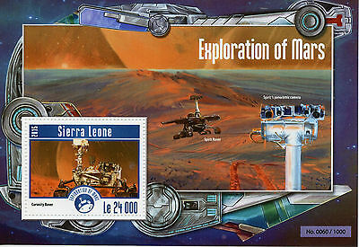 Sierra Leone 2015 MNH Exploration of Mars 1v S/S Space Curiosity Rover