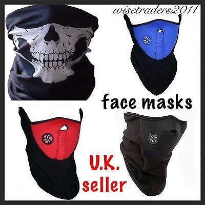Full Function Skull Face Mask Neoprene Thermal  Balaclava Neck Warmer Snood Mask
