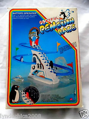 Vintage PLAYFUL PENGUIN RACE Game By DY Toys 1983 COMPLETE