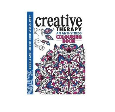 Adult Colouring Book Creative Therapy Stress Anxiety Art Therapy Paperback New