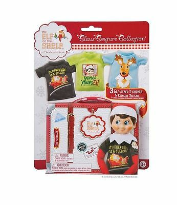 Elf on the Shelf Claus Couture Collection 3 T-Shirts & Keepsake Suitcase
