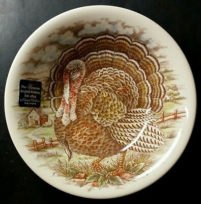 The Victorian English Pottery Thanksgiving Turkey Serving Bowl By Challinor